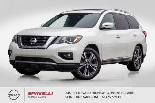 Used 2017 Nissan Pathfinder PLATINUM AWD / DVD / GPS / CUIR / ANGLES MORTS / TOIT PANORAMIQUE for sale in Montréal, QC