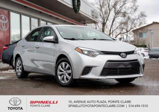 Used 2016 Toyota Corolla LE SIÈGES CHAUFFANT, PNEUS HIVER NEUF for sale in Pointe-Claire, QC