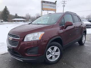 Used 2016 Chevrolet Trax LT AWD! BackupCam, AutoStart, Cruise, Air, Pwr Windows, Alloy Wheels, Steering Wheel Controls and More! for sale in Kemptville, ON