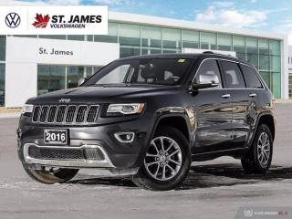 Used 2016 Jeep Grand Cherokee Limited, One Owner, Panoramic Sunroof, Heated Seats for sale in Winnipeg, MB