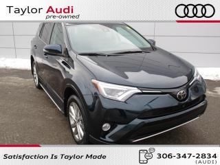 Used 2018 Toyota RAV4 Limited Platinum, Local Trade for sale in Regina, SK
