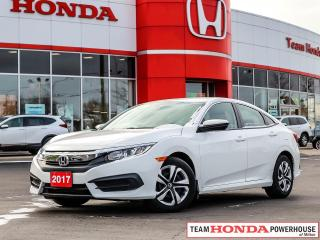 Used 2017 Honda Civic LX--1 Owner--No Accidents--Backup Camera--Heated Seats for sale in Milton, ON