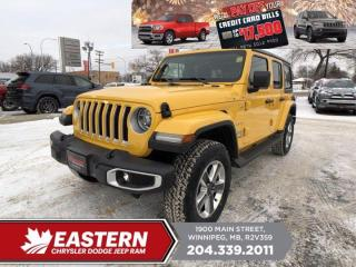 New 2021 Jeep Wrangler Sahara | Remote Start | Removable Hardtop | for sale in Winnipeg, MB