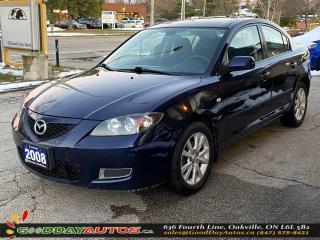 Used 2008 Mazda MAZDA3 GS|LOW KM|SUNROOF|ALLOYS|WARRANTY|CERTIFIED for sale in Oakville, ON