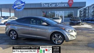 Used 2016 Hyundai Elantra Limited NAVIGATION Sunroof Htd Leather Rear Cam for sale in Winnipeg, MB