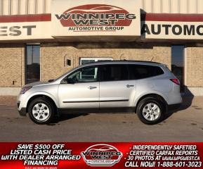Used 2017 Chevrolet Traverse *$110 BI-WEEKLY, LOADED 8 PASS, CLEAN LOCAL SUV! for sale in Headingley, MB