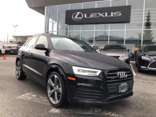 Used 2017 Audi Q3 2.0T Technik Quattro 6sp Tiptronic / One Owner, Te for sale in North Vancouver, BC