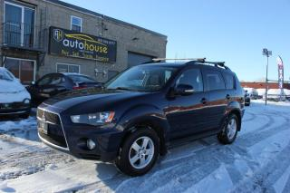Used 2012 Mitsubishi Outlander LS / 4WD / BACK CAMERA / SUEDE SEATS / HEATED SEATS/ 7 PASS for sale in Newmarket, ON
