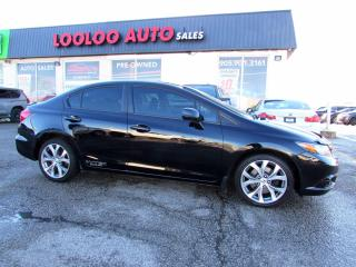 Used 2012 Honda Civic Si Sedan 6-Speed Manual Navigation Certified for sale in Milton, ON