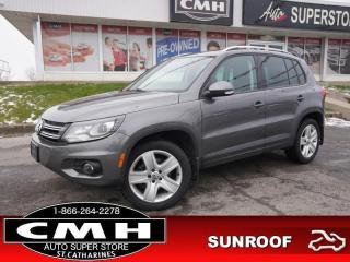 Used 2015 Volkswagen Tiguan Comfortline  CAM LEATH ROOF HTD-SEATS for sale in St. Catharines, ON