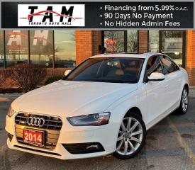 Used 2014 Audi A4 2.0T Sedan quattro Tiptronic Sunroof Leather Heated Seats Bluetooth Clean Carfax No Accident for sale in North York, ON