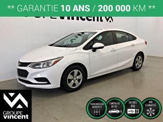 Used 2016 Chevrolet Cruze LS CLIMATISEUR ** GARANTIE 10 ANS ** Parfait pour petit budget! for sale in Shawinigan, QC