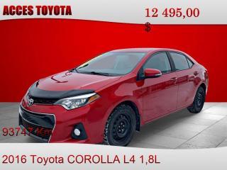 Used 2016 Toyota Corolla S for sale in Rouyn-Noranda, QC