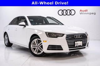 Used 2017 Audi A4 Komfort w/Leather & Sunroof for sale in Winnipeg, MB