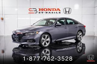 Used 2019 Honda Accord TOURING + NAVI + CUIR + CAMERA + WOW! for sale in St-Basile-le-Grand, QC