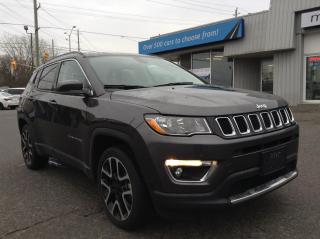 Used 2020 Jeep Compass Limited LEATHER, HEATED SEATS/WHEEL, NAV, WOW!! for sale in North Bay, ON