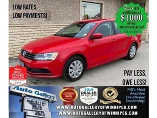 Used 2017 Volkswagen Jetta Sedan Trendline+* LOW KMS/Bluetooth/HEATED SEATS for sale in Winnipeg, MB