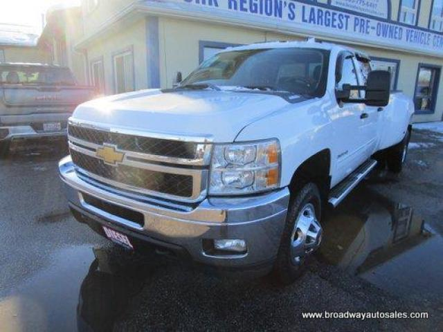 2012 Chevrolet Silverado 3500 1-TON DIESEL GREAT KM'S LT EDITION 6 PASSENGER 6.6L - DURAMAX.. 4X4.. CREW-CAB.. 8-FOOT-DUALLY.. TRAILER BRAKE.. CD/AUX INPUT.. KEYLESS ENTRY..