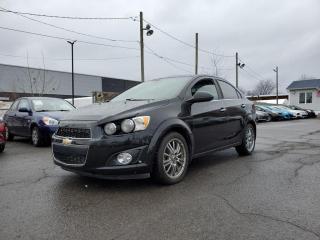 Used 2013 Chevrolet Sonic LTZ *TOIT*DÉMARREUR*CUIR* 36$/SEMAINE for sale in St-Jérôme, QC