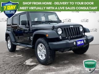 Used 2014 Jeep Wrangler Unlimited Sport 4x4 Power Locks and Doors/Alloy Wheels for sale in St Thomas, ON