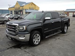 Used 2018 GMC Sierra 1500 SLT CrewCab 4x4 5.3L 5.5ftBox RoofNav Leather for sale in Brantford, ON