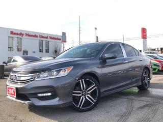 Used 2017 Honda Accord Sedan Sport -  Sunroof - Rear camera  -Low KMS!! for sale in Mississauga, ON