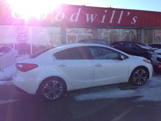 Used 2014 Kia Forte SX! CLEAN CARAFX! HEATED COOLED LEATHER! BT! NAV! for sale in Aylmer, ON