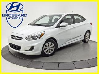 Used 2016 Hyundai Accent GL AUTO SIÈGES CHAUFFANTS BLUETOOTH CRUISE for sale in Brossard, QC