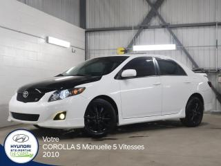 Used 2010 Toyota Corolla S Manuelle 5 Vitesses for sale in Val-David, QC
