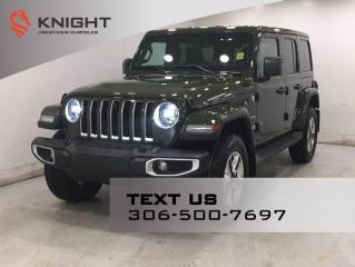 New 2021 Jeep Wrangler Sahara Unlimited | 2.0L Turbo | Leather | Navigation | for sale in Regina, SK