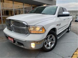 Used 2018 RAM 1500 Laramie, #Diesel #Navigation #Back-up Cam #Leather for sale in Chatham, ON