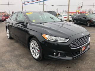 Used 2014 Ford Fusion TITANIUM*HEATED AND COOLED SEATS*PARK ASSIST* for sale in London, ON