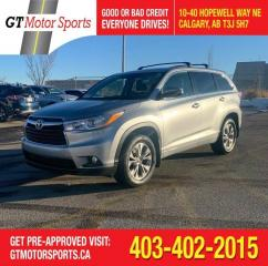 Used 2016 Toyota Highlander LE  I AWD | $0 DOWN - EVERYONE APPROVED! for sale in Calgary, AB
