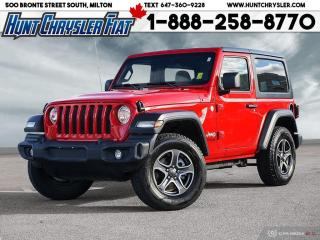 Used 2019 Jeep Wrangler SPORT S | 4X4 | SAFETY | COLD WTRH | HARDTOP!!! for sale in Milton, ON