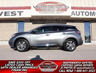 Used 2016 Nissan Murano SL EDITION AWD, NAV, PAN ROOF, HTD LEATHER & MORE for sale in Headingley, MB