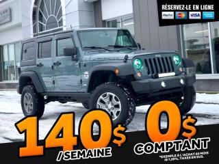 Used 2015 Jeep Wrangler RUBICON UNLIMITED   ''AUTOMATIQUE 2 TOIT for sale in Ste-Marie, QC