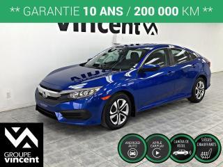 Used 2016 Honda Civic LX ** GARANTIE 10 ANS ** Faible kilométrage pour un achat durable! for sale in Shawinigan, QC