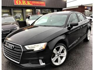 Used 2017 Audi A3 Quattro-Komfort-TOIT OUVT-BLUETOOTH-SIEGES CHAUFFA for sale in Laval, QC