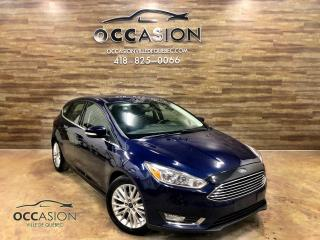 Used 2016 Ford Focus Hayon 5 portes Titanium automatique cuir for sale in Ste-Brigitte-de-Laval, QC