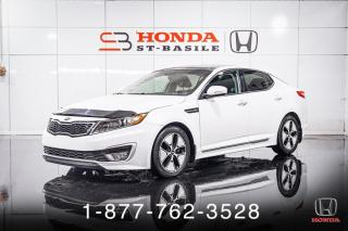 Used 2013 Kia Optima HYBRID + CUIR + TOIT + A/C + MAGS + WOW! for sale in St-Basile-le-Grand, QC