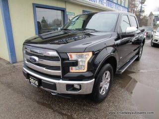 Used 2016 Ford F-150 LOADED LARIAT EDITION 5 PASSENGER 3.5L - V6 - TURBO.. 4X4.. CREW-CAB.. SHORTY.. NAVIGATION.. LEATHER.. HEATED & AC SEATS.. BACK-UP CAMERA.. for sale in Bradford, ON