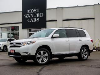 Used 2013 Toyota Highlander AWD|LEATHER|SUNROOF|ALLOYS|CAMERA|POWER TAILGATE|SUNROOF for sale in Kitchener, ON