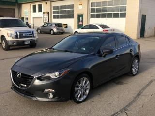 Used 2014 Mazda MAZDA3 4dr Sdn Auto GT-SKY for sale in Caledon, ON