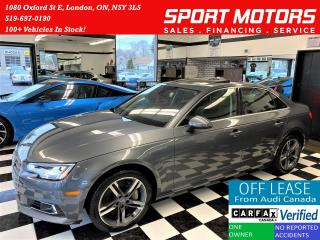 Used 2017 Audi A4 Technik Quattro+Adaptive Cruise+ACCIDENT FREE for sale in London, ON