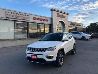 Used 2018 Jeep Compass Limited 4x4 w/Leather Heated Seats, Sunroof, Navig for sale in Hamilton, ON