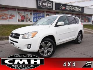 Used 2012 Toyota RAV4 Sport  4WD BT ROOF S/W-AUDIO 18-AL for sale in St. Catharines, ON
