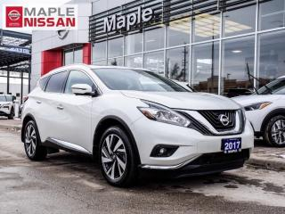 Used 2017 Nissan Murano Platinum Navi Apple Carplay Pano Moon Blind Spot for sale in Maple, ON