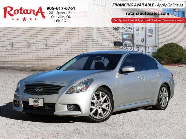 2012 Infiniti G37 S Pkg_Navi_Rear Cam_Leather_Sunroof