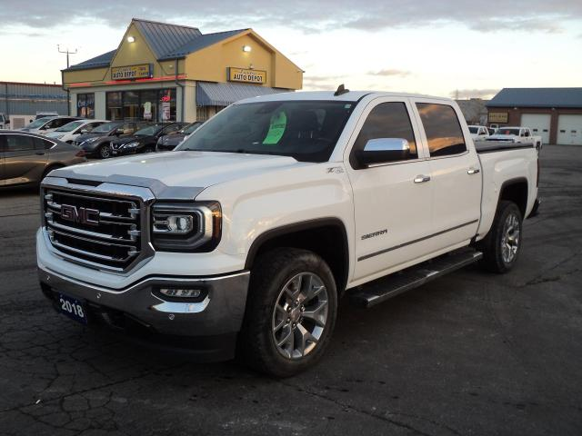 2018 GMC Sierra 1500 SLT CrewCab 4x4 5.3L 5.5ftBox RoofNav Leather
