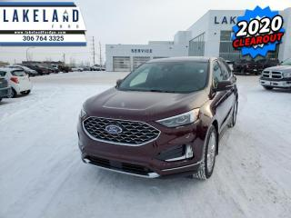 New 2020 Ford Edge Titanium  - Navigation - Cooled Seats - $291 B/W for sale in Prince Albert, SK